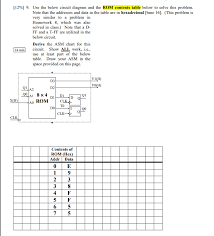 Hexadecimal Base 16 Chart Solved Use The Below Circuit Diagram And The Rom Contents