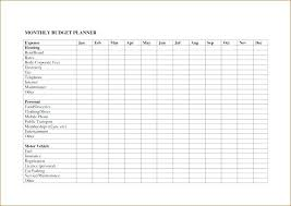 Household Expense Tracker Spreadsheet Bills Excel Template Monthly