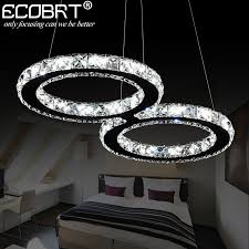 cool lighting fixtures. ECOBRT LED Crystal Pendant Lights 24W Creative Restaurant Cord Lighting Fixture Modern Style Cool White 110 240V AC-in From Fixtures E