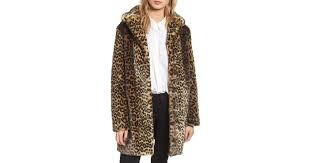 lyst laundry by shelli segal reversible cheetah print faux fur jacket in natural