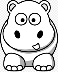 cute animals clipart black and white. Delighful White Animal Cuteness Black And White Clip Art  Cute Hippo Cliparts Intended Animals Clipart And White