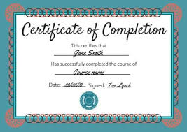 Certificate Of Completeion Certificate Of Completion Templates Customize In Seconds