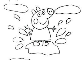 Peppa Pig Coloring Pig Colouring Pages Online Friends Coloring Page