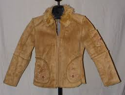 girl s faded glory originals suede embellished tan coat m 7 8 faux fur collar