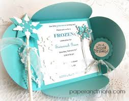 make your own frozen invitations diy frozen invitation set by sandee shanabrough www paperandmore com