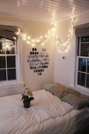 Fairy lights and heart picture mural--college dorm idea :)