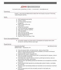 Assistant Chef Resumes Executive Sous Chef Resume Sample Resumes Misc Livecareer