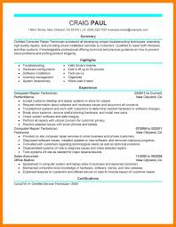 8 Information Technology Technician Resume Free Ride Cycles
