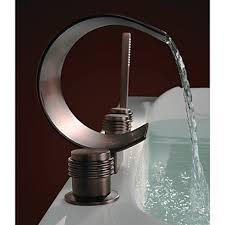 bronze faucet waterfall bathtub with triple handles oilrubbedbronzefaucet