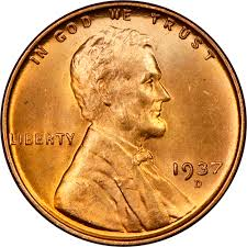 1937 D 1c Ms Lincoln Cents Wheat Reverse Ngc