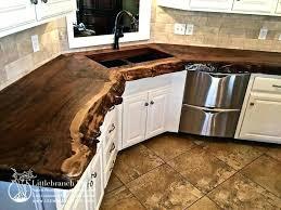 waterfall edge countertop granite best of natural wood live