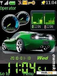 Theme Downloads Download Free Car Clock Theme For Symbian S40 5th Edition