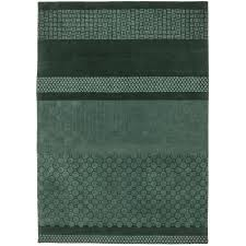 jie celadon forest green area rug by nanimarquina