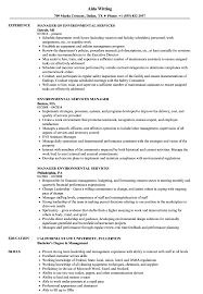 Sample Resume For Environmental Services Environmental Services Manager Resume Samples Velvet Jobs 5