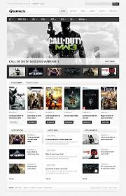 website template video call of duty video game review website theme video game websites