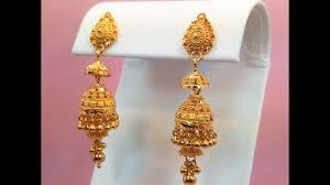 goldshine treasure for generations 22k solid yellow gold chandelier jhumka jhumki style earrings