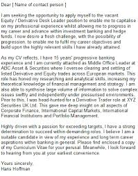 cover letter template investment banking uk