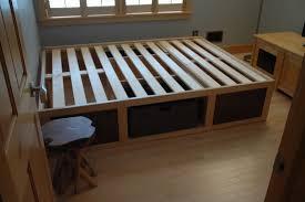 60 x 80 platform bed with storage baskets diy crafts from Platform Bed Diy  With StoragePlatform Bed Diy with Storage -