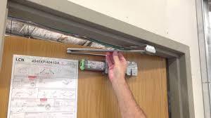 door closer installation. door closer installation