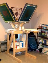 picture of diy screen printing table