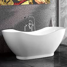 60 in acrylic white freestanding bathtub dk mec3159a