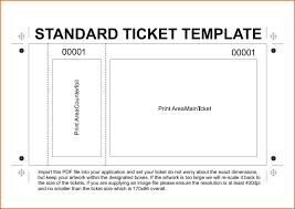 ticket sample template 6 ticket templates for word to design your own free tickets