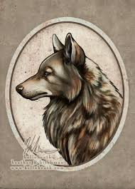 Oval Frame Wolf Tattoo Design Best Tattoo Designs