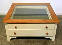 coffee table glass top display drawer luxury gallery of coffee table glass top display drawer viewing 12