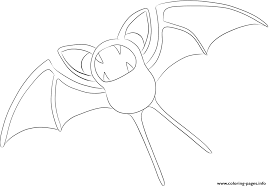 041 Zubat Pokemon Coloring Pages Printable
