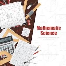 Science Poster Background Mathematic Science Background Poster Stock Vector