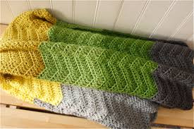 Double Crochet Chevron Blanket Pattern Simple Design Inspiration