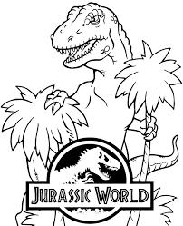 Znajdziecie tutaj darmowe kolorowanki do druku z różnymi motywami. Kolorowanka Z Tyranozaurem Z Filmu Jurassic World