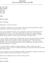 Driver Cover Letters Driver Cover Letter Examples Icover Org Uk