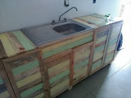 Pallet Wood Kitchen Counter With Sink  101 PalletsKitchen Counter With Sink