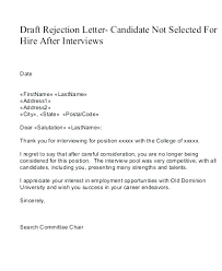 How To Reject A Job Candidate Candidate Rejection Letter Template