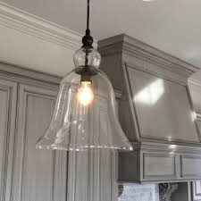 Industrial Pendant Lights For Kitchen Kitchen Large Glass Bell Hanging Pendant Light Favorite Light