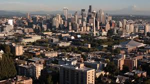 dropbox seattle office mt. Aerial Seattle, Washington Skyline And City View Stock Video Footage - Videoblocks Dropbox Seattle Office Mt S