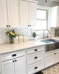 Kitchen Backsplash Ideas White Cabinets 40 Capecoral Adorable Kitchen Backsplash Ideas White Cabinets