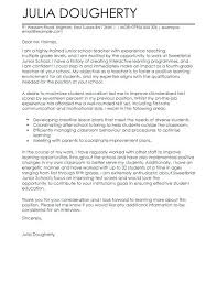 Primary Teacher Cover Letter Examples Of Teacher Cover Letters Example Teaching Cover Letter