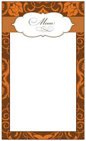 christmas menu borders menu borders template 69 infantry