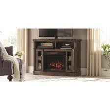 home decorators collection tolleson 48 in tv stand infrared bow front electric fireplace in mocha
