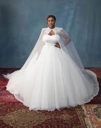 Serena Williams Wearing Alexander McQueen Wedding Dress   POPSUGAR ...