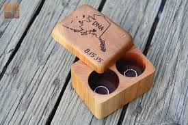 for the sentimental guy custom personalized double wood ring box