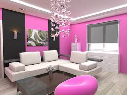 Painting For Living Rooms Pretty Living Room Paint Idea With Pink And Black Painted Wall And