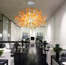 crystal ginkgo by yellow goat design suspended lights