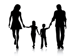 Image result for black and white family clipart