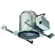 halo e26 5 in aluminum recessed lighting housing for new construction ceiling insulation contact