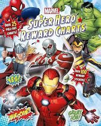 Marvel Super Hero Reward Charts Reward Chart Pad Amazon