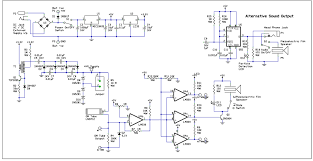 make volume 29 web extras and s make schematic diagram including alternative sound output circuit