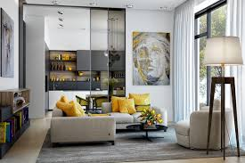 Gorgeous Living Room Design With Yellow Accents | Living rooms ...